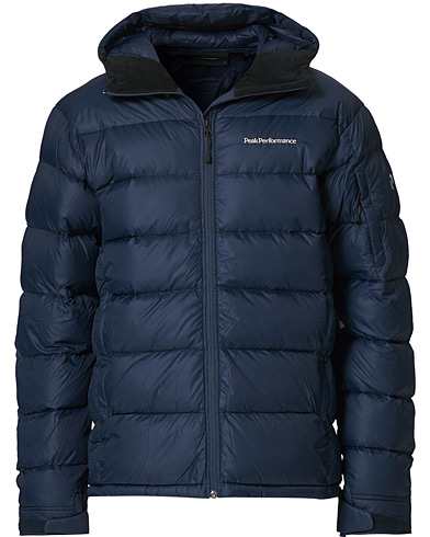Peak Performance Frost Down Hooded Jacket Blue Shadow i gruppen Klær / Jakker / Dunjakker hos Care of Carl (19250111r)