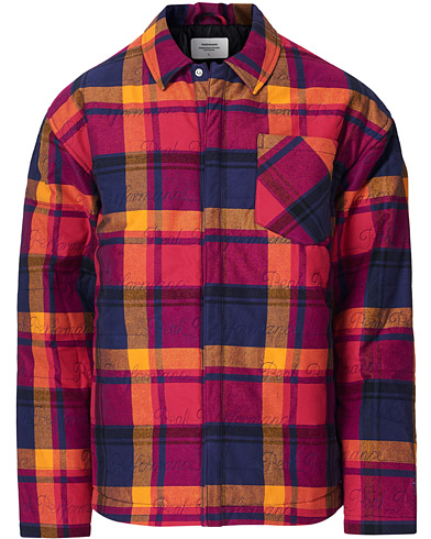 Peak Performance Ben Gorham Flannel Liner Overshirt Power Pink i gruppen Klær / Skjorter / Casual / Overshirts hos Care of Carl (19256711r)