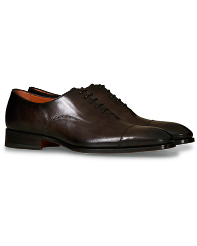 Santoni Blake Oxford  Dark Brown Calf i gruppen Sko / Oxfords hos Care of Carl (19262711r)