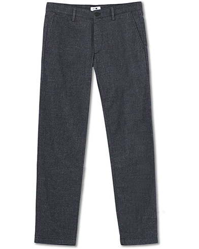 NN07 Karl Regular Fit Structure Chinos Navy i gruppen Klær / Bukser / Chinos hos Care of Carl (19491811r)