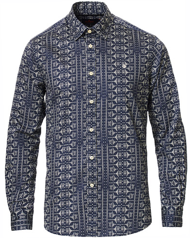 Morris Pascal Button Under Shirt Blue i gruppen Klær / Skjorter / Casual / Casualskjorter hos Care of Carl (19509611r)