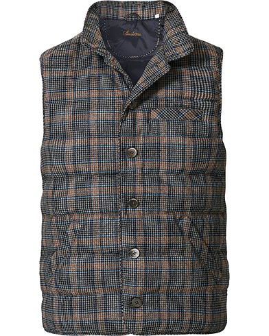 Stenströms Quilted Check Wool Vest Navy i gruppen Klær / Vester hos Care of Carl (19523011r)