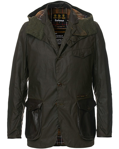 Barbour Lifestyle Gold Standard Supa Commander Wax Jacket Olive i gruppen Klær / Jakker / Voksede jakker hos Care of Carl (19542411r)