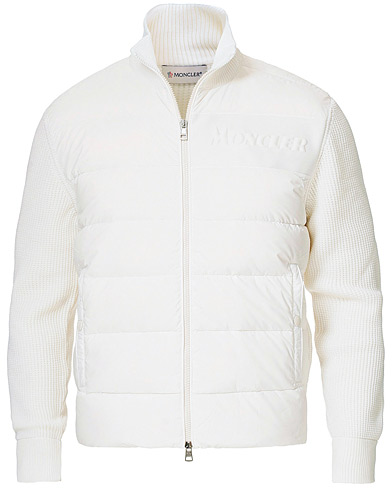 Moncler Hybrid Full Zip White i gruppen Klær / Gensere / Zip-gensere hos Care of Carl (19631011r)