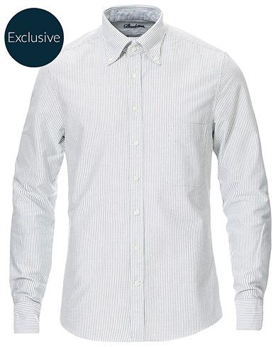 Stenströms Slimline Oxford Shirt Green/White