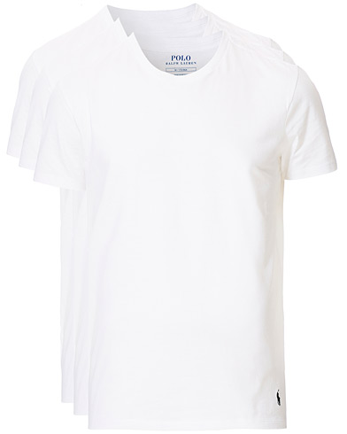 Polo Ralph Lauren 3-Pack Crew Neck Tee White i gruppen Klær / T-Shirts / Kortermede t-shirts hos Care of Carl (19785711r)