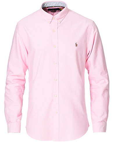 Polo Ralph Lauren Slim Fit Contrast Oxford Shirt New Rose