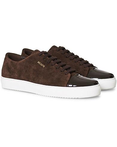 Axel Arigato Patent Cap Toe Sneaker Brown Suede