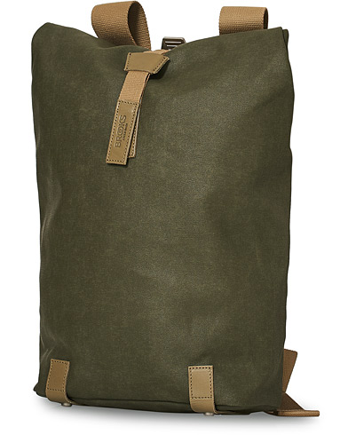Brooks England Pickwick Cotton Canvas 12L Backpack Sage Green i gruppen Assesoarer / Vesker / Ryggsekker hos Care of Carl (20056210)