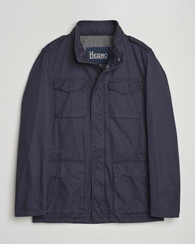 Herno Cotton Field Jacket Navy