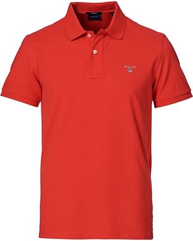 GANT The Original Polo Bright Red i gruppen Klær / Pikéer / Kortermet piké hos Care of Carl (20594311r)