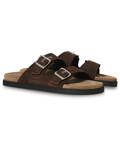 Car Shoe Sandal Dark Brown Suede