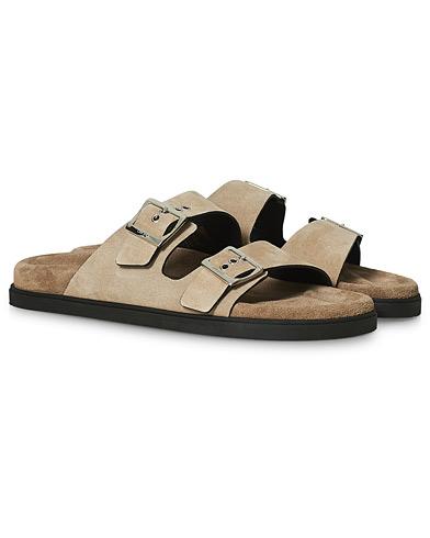 Car Shoe Sandal Beige Suede