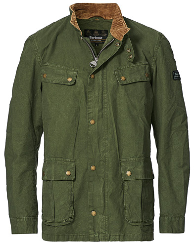 Barbour International Summer Wash Duke Casual Jacket Racing Green i gruppen Klær / Jakker / Fieldjakker hos Care of Carl (20684711r)