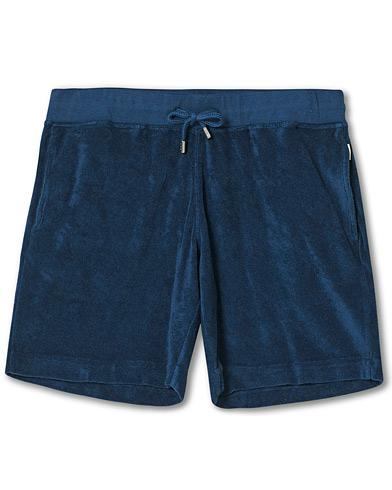 Orlebar Brown Afador Garment Dye Toweling Shorts Navy