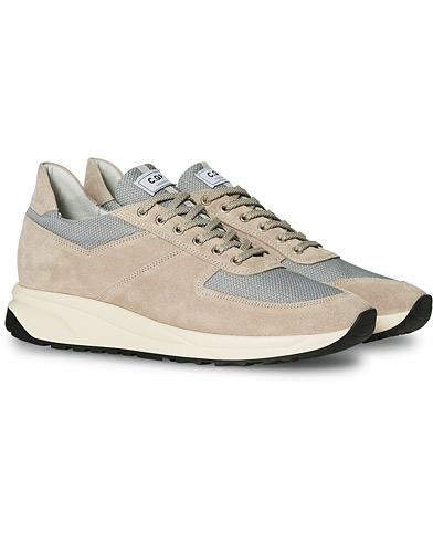 C.QP Stride Suede/Mesh Running Sneaker Stone Grey