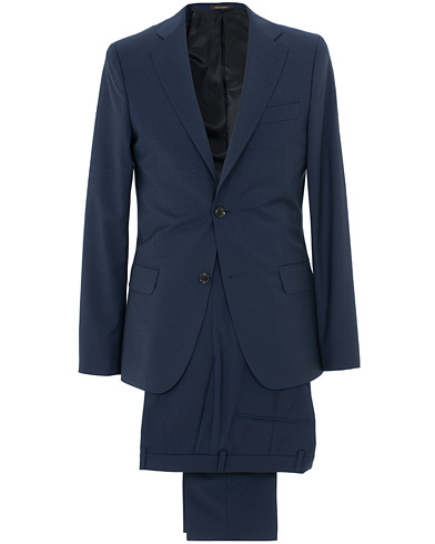 Edmund Wool Suit Mid Blue