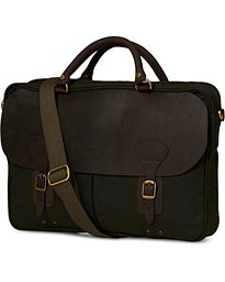 Barbour Lifestyle Wax Leather Breifcase Olive