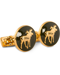 Cuff Links Hunter The Moose Gold/Green