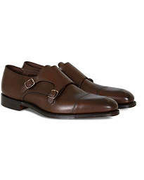 Cannon Monkstrap Dark Brown Burnished Calf