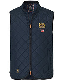 Trenton Quilted Vest Old Blue