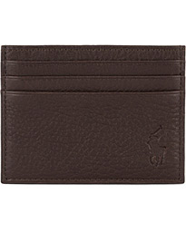 Polo Ralph Lauren Pebble Leather Slim Card Case Brown