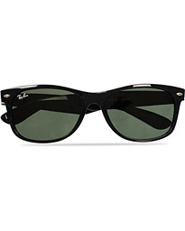 New Wayfarer Sunglasses Black/Crystal Green