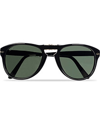 PO0714 Folding Sunglasses Black/Crystal Green