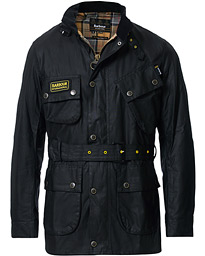 Barbour International Slim Wax Jacket Black