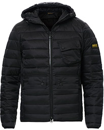 Barbour International Ouston Hooded Quilt Jacket Black