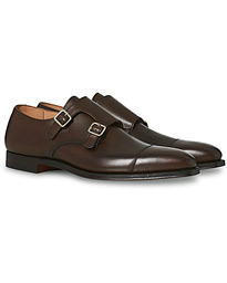 Lowndes Monkstrap Dark Brown Calf