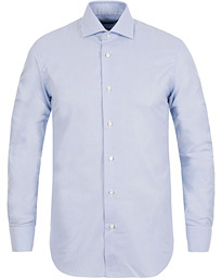 Barba Napoli Slim Fit Oxford Shirt Blue
