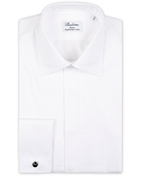 Stenströms Slimline Smoking Shirt White