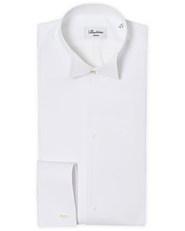 Stenströms Slimline Astoria Stand Up Collar Evening Shirt White