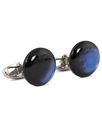 Mother of Pearl Cufflink Dark Blue