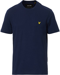 Lyle & Scott Plain Crew Neck Cotton T-Shirt Navy