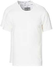 Cotton Crew Neck Tee 2- Pack White