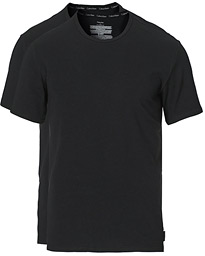 Cotton Crew Neck Tee 2- Pack Black