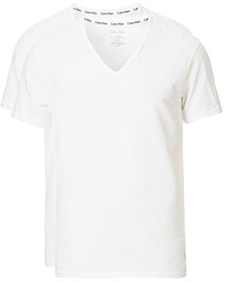 Cotton V-Neck Tee 2-Pack White