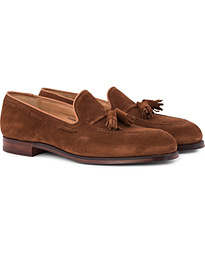 Crockett & Jones Cavendish Tassel Loafer Polo Suede UK7 - EU40,5 i gruppen Sko / Loafers hos Care of Carl (12680211)