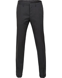 BOSS Wave Slim Fit Wool Trousers Charcoal
