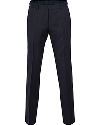 BOSS Gibson Regular Fit Wool Trousers Dark Blue