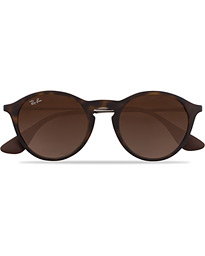 Ray-Ban 0RB4243 Round Sunglasses Rubber Havana