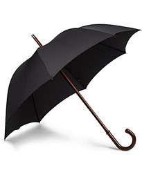 Polished Cherrywood Solid Umbrella Black