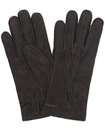 Arthur Wool Lined Suede Glove Black