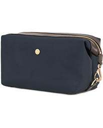 M/S Nylon Washbag Navy/Dark Brown