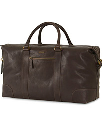 7447afadce4e Morris Leather Weekendbag Dark Brown