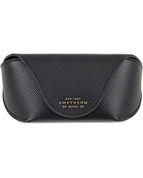 Smythson Panama Hard Sunglasses Case Black