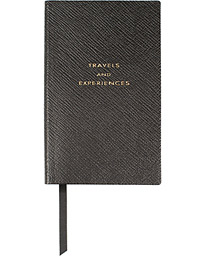 "Smythson Panama Notebook Black ""Travel and Experiences"""