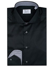 Stenströms Fitted Body Contrast Shirt Black